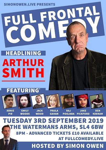 Full Frontal Comedy Opening Night (Headlined by Arthur Smith)