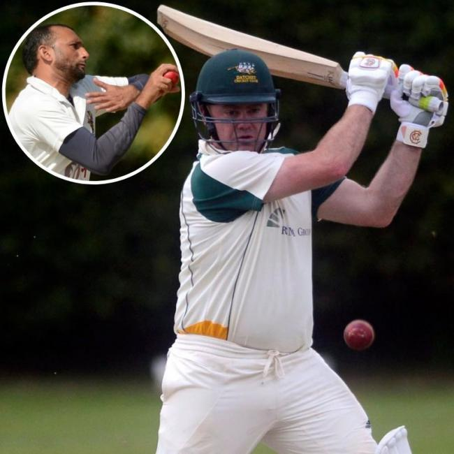 Datchet captain Steven Naylor might not be lifting the Division One title this season as his side lost ground to leaders Henley. Inset, figures of 2-25 from Nabeel Janed was not enough for Slough to beat the defending champions on Saturday.