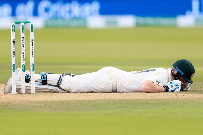 Steve Smith retired hurt after being struck by a 92 miles per hour delivery from Jofra Archer