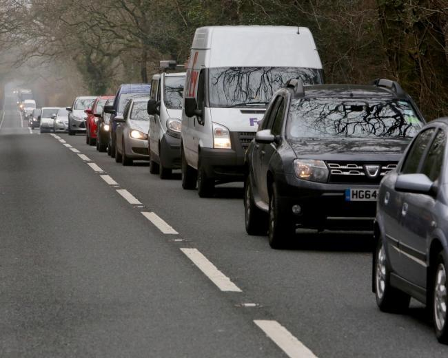 Traffic chaos between Treadaway Hill and Flackwell Heath
