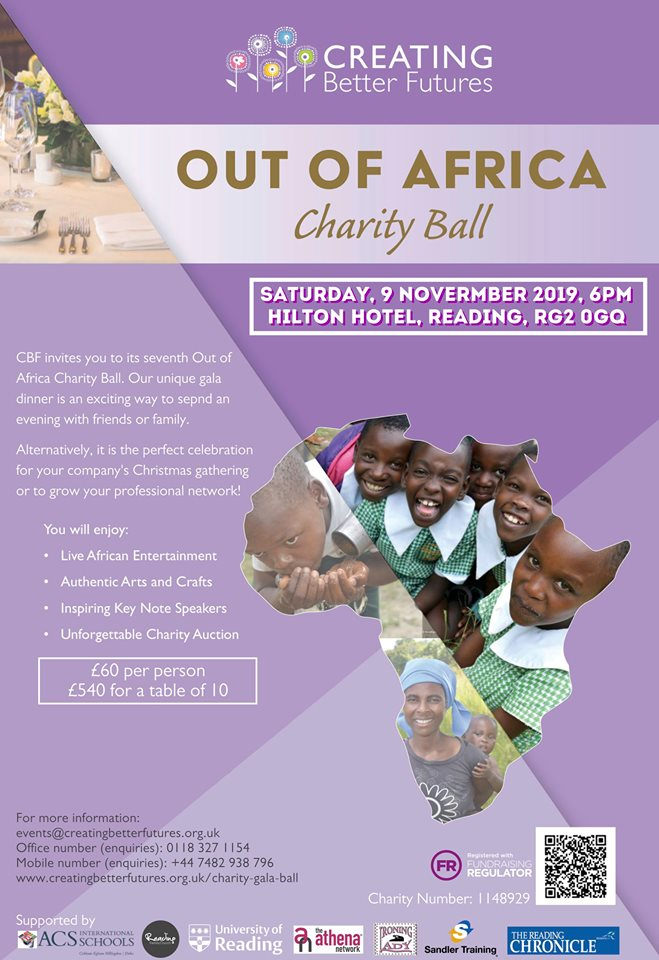 Out of Africa Charity Ball 2019 in Aid of Creating Better Futures