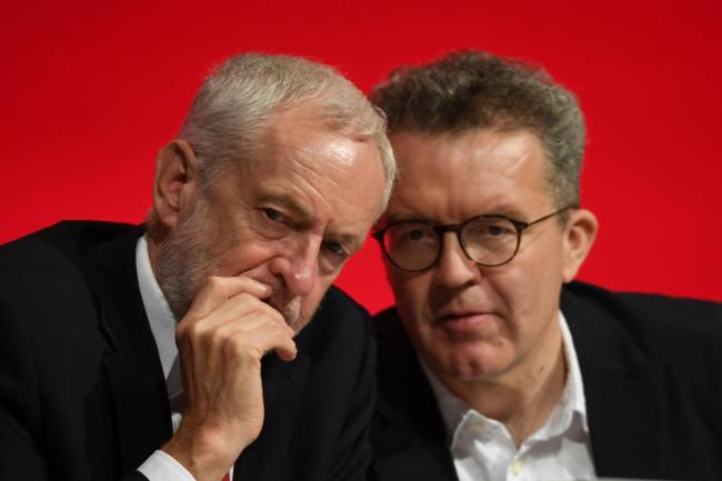 Labour leader Jeremy Corbyn and deputy leader Tom Watson
