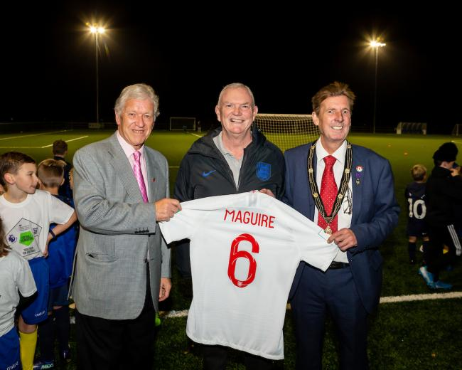 Official opening of Ascot United's new 3g Pitch at  The Racecourse Ground. Pictures by Neil Graham.