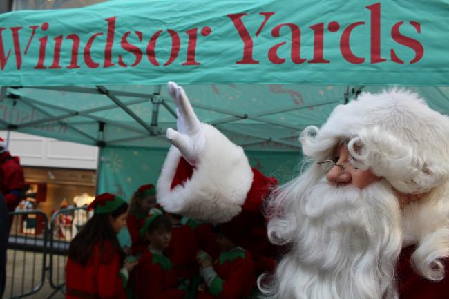 Windsor Yards last Christmas - but Covid is keeping Santa away this year