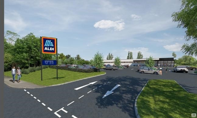 Plans for the new Aldi store were approved last October