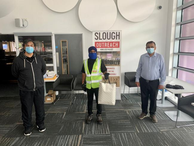 Donating face masks for the homeless