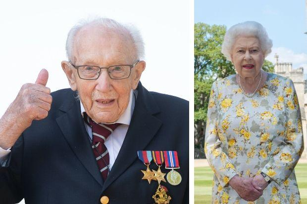 Captain Sir Tom Moore to be knighted by the Queen in 'unique' ceremony on Friday. Pictures: PA Wire