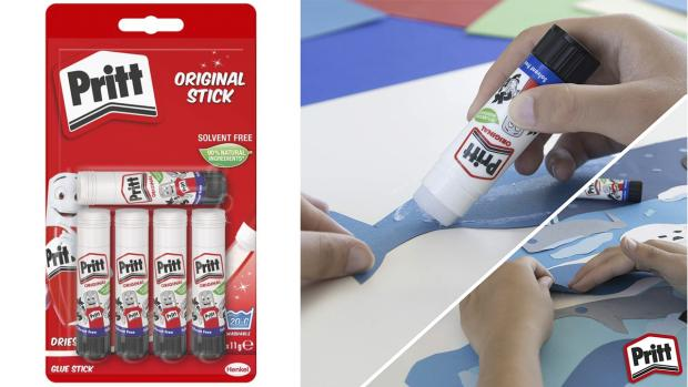 Slough Observer: Don't worry. These glue sticks are washable. Credit: Pritt