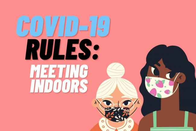 What do Coronavirus rules say about meeting indoors?
