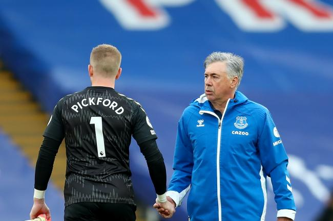 Everton manager Carlo Ancelotti has no plans to take goalkeeper Jordan Pickford out of the firing line