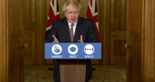 Key points from Boris Johnson's tier winter plan speech. Picture: Downing Street.