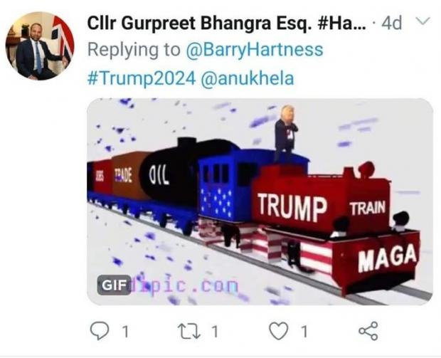 Slough Observer: 'The Trump train' with the US President's 'Make America Great Again' slogan