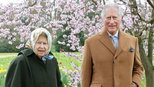 Queen and Charles pictured on Windsor walk ahead of prince's Easter message - photo by PA