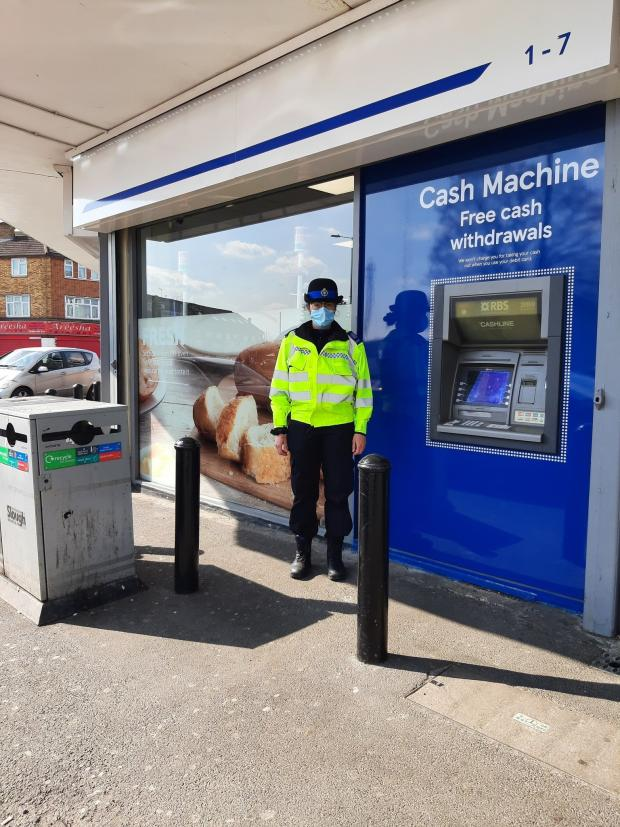 Slough Observer: Police have been carrying out more patrols around cash points in Slough