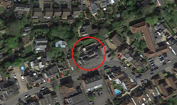 Slough Observer: Carpenters Arm (circled) and the nearby properties