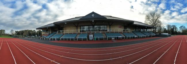The Thames Valley Athletics Centre in Eton - the home of WSEH Athletics Club.