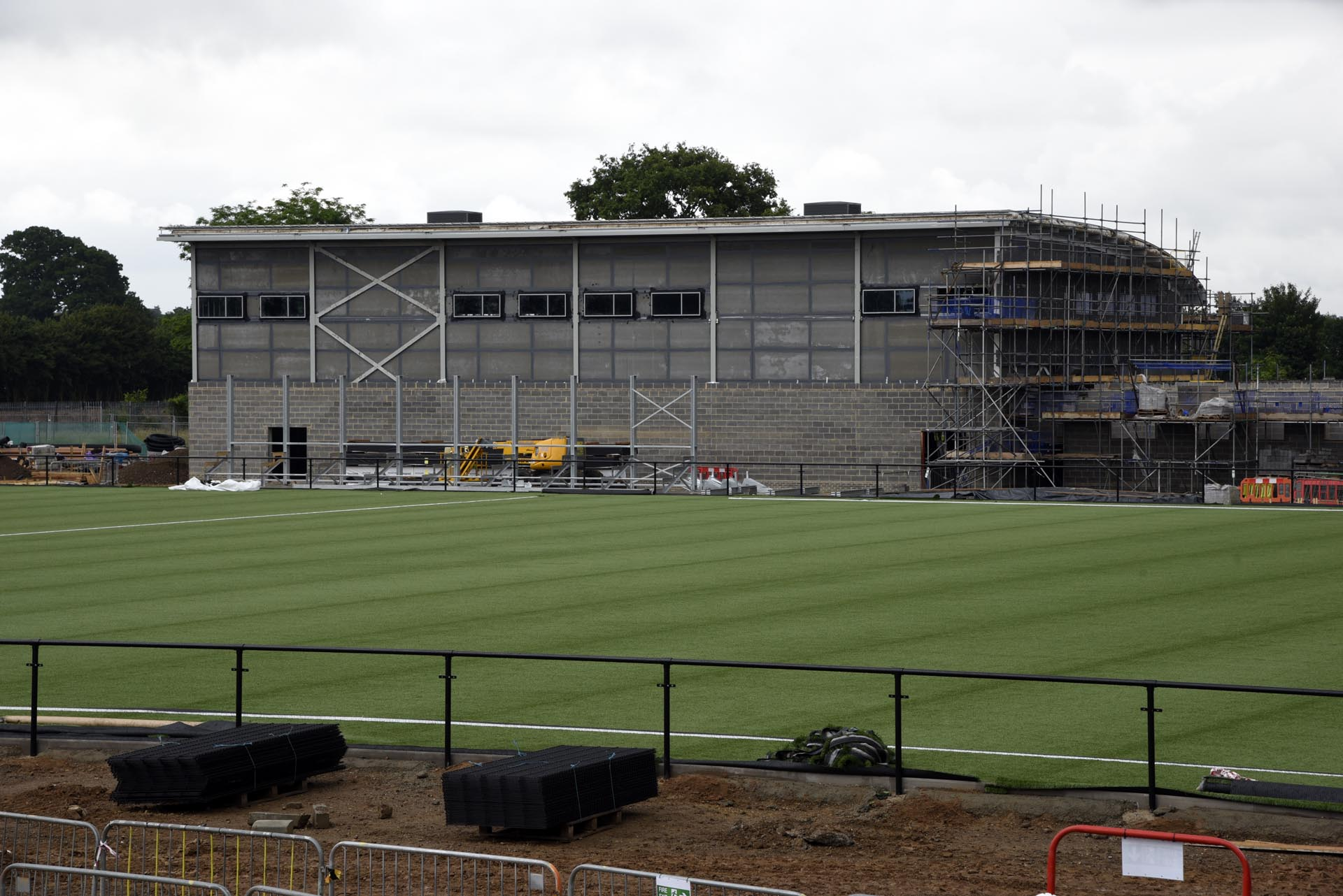 The new St Joseph's School Sports Hall at Arbour Park with the 3G pitch in front, a surface which soon could be the only FIFA and FA accredited stadium in the Berks & Bucks FA.