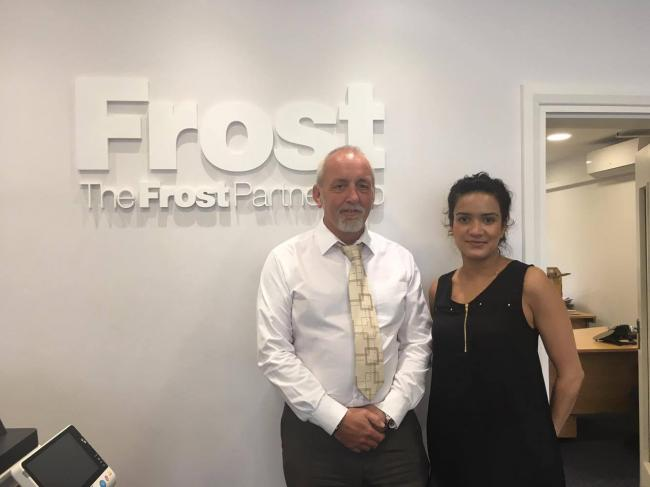 Lee Moss, valuer and Pooja Shah, lettings negotiator at The Frost Partnership.