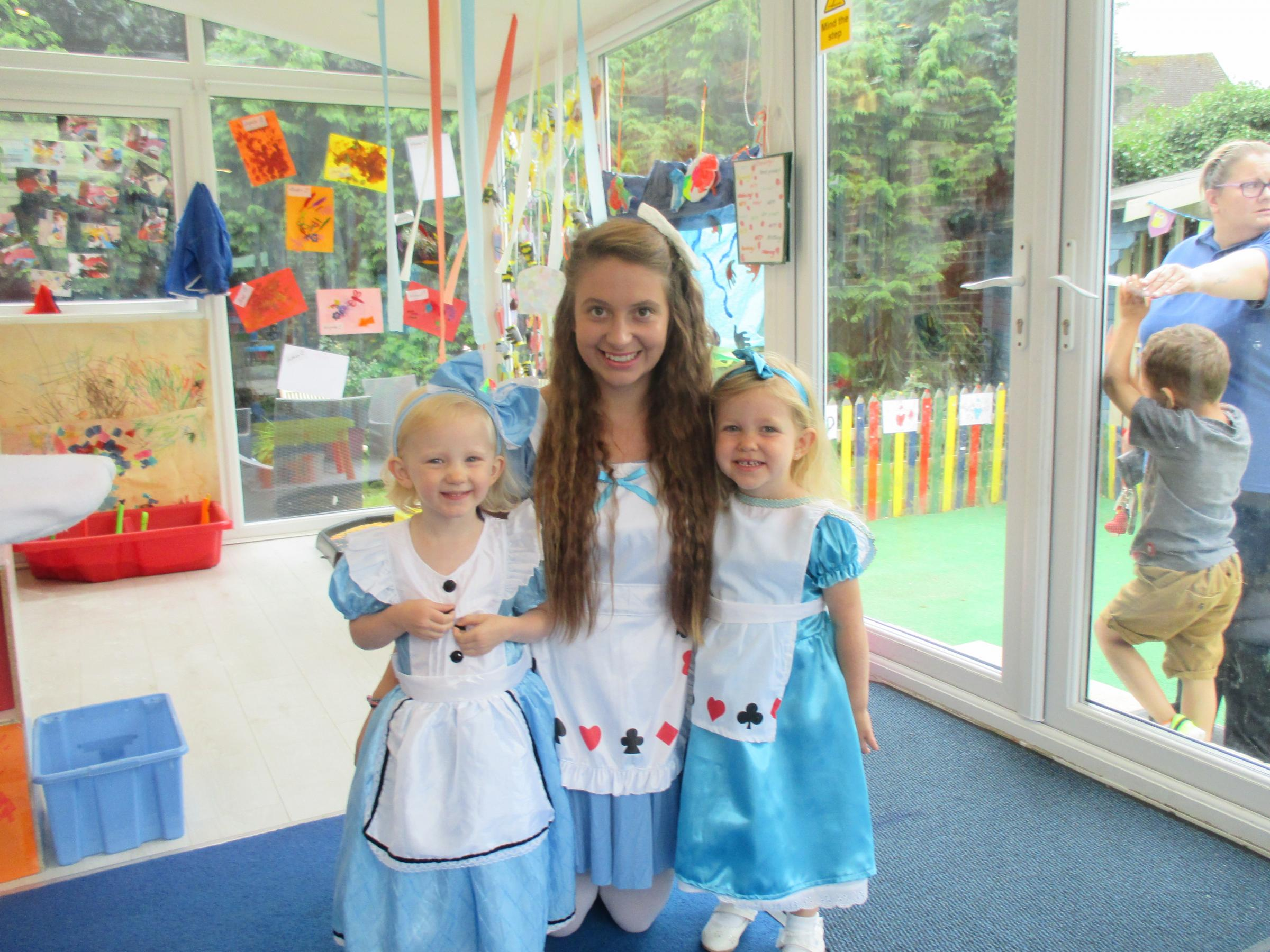 Nursery celebrates 25 year anniversary with Alice in Wonderland tea party