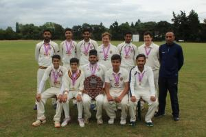 The Slough Cricket Club Under-17 team which won the Berkshire Youth Cricket League final in Reading.