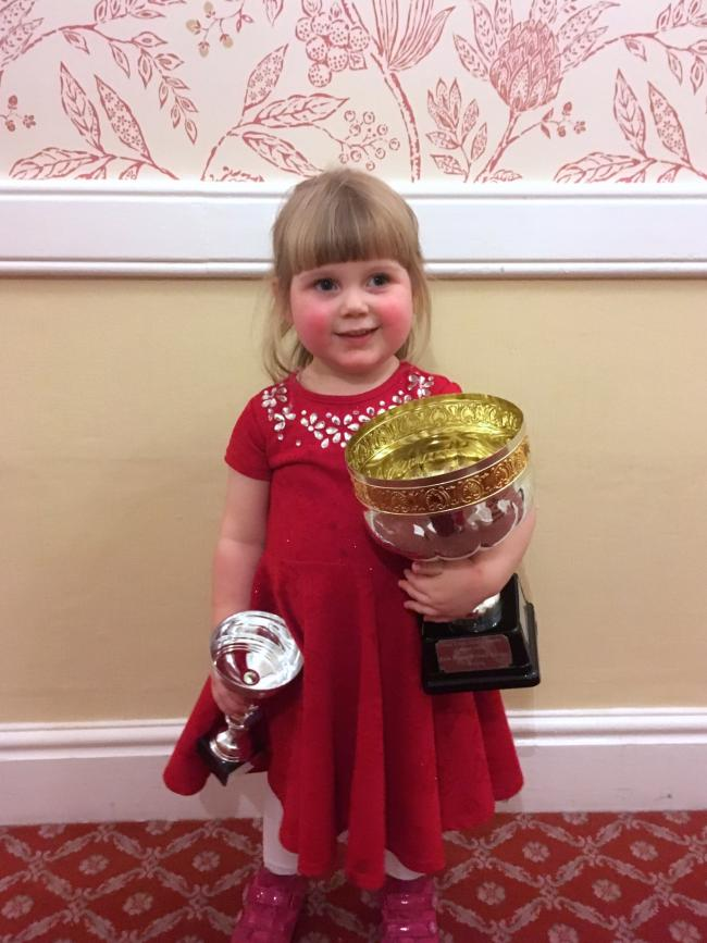 Three-year-old girl lands prize for travelling length of UK