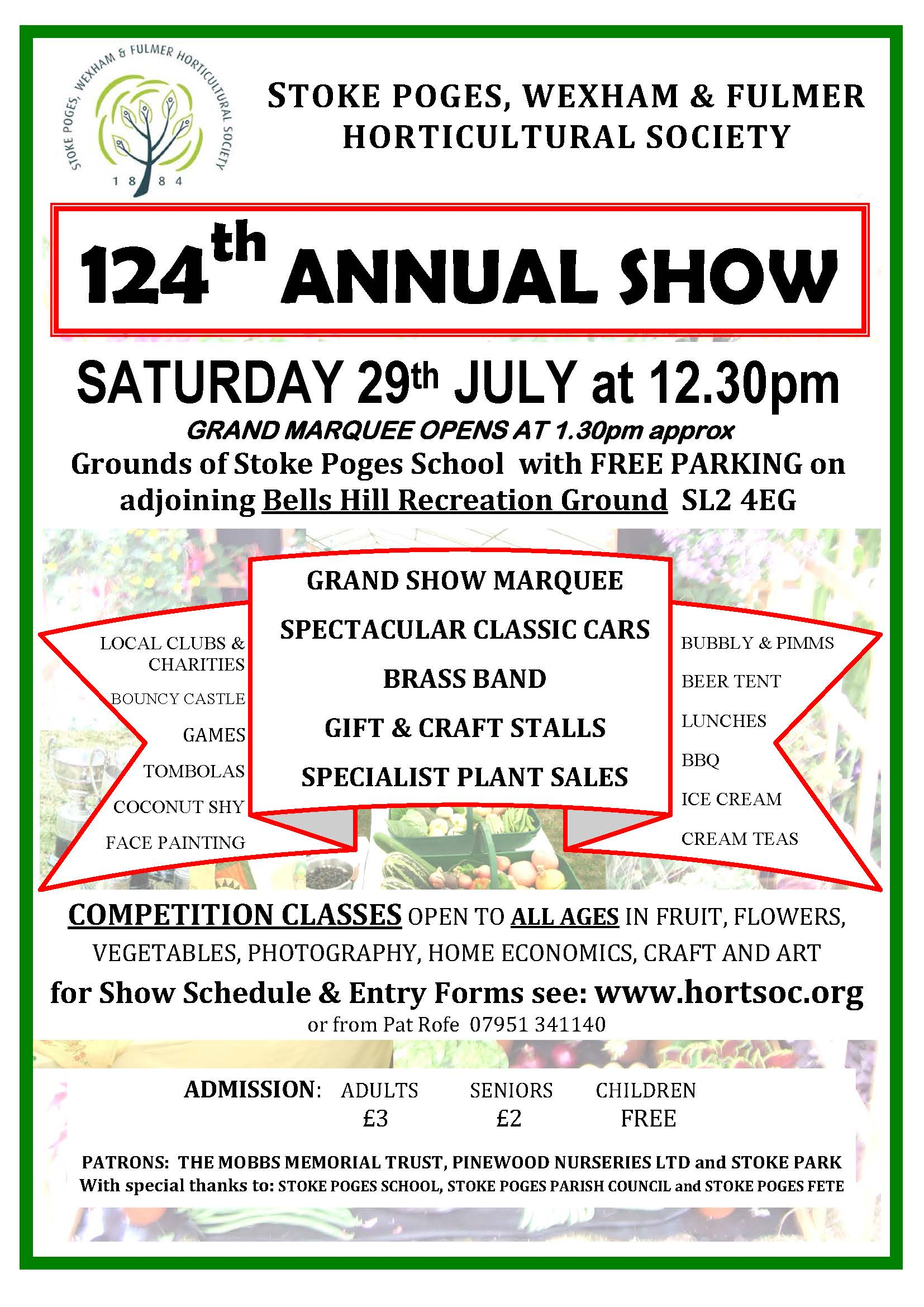 124th Annual Show, Stoke Poges, Wexham and Fulmer Horticultural Society
