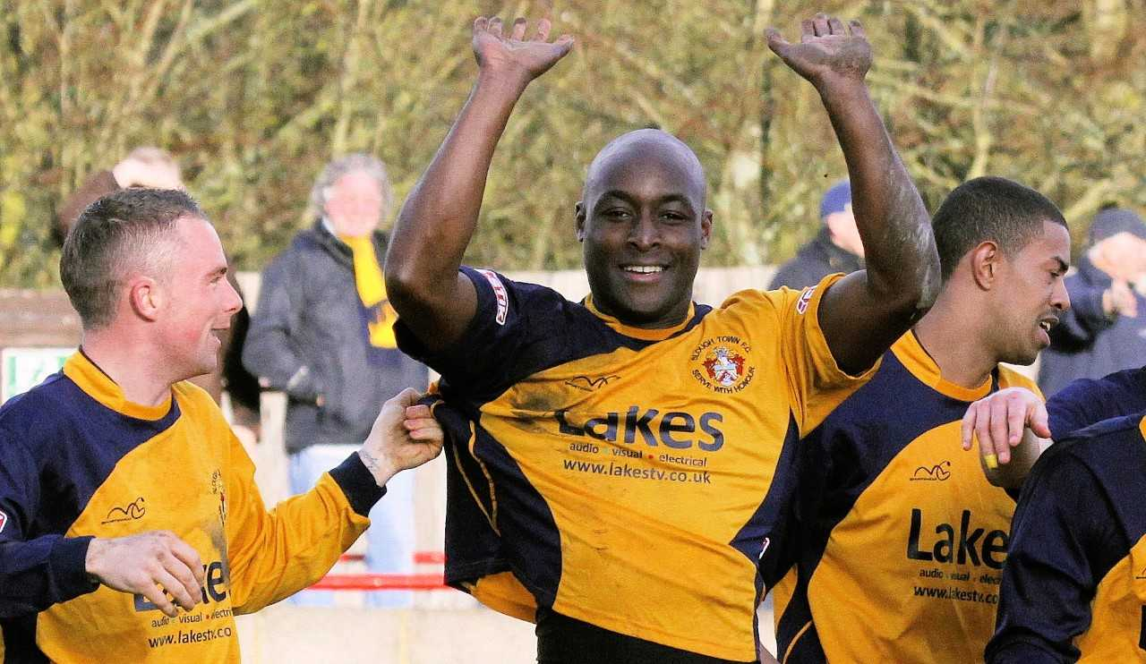 Former Slough Town striker, Lloyd Owusu.