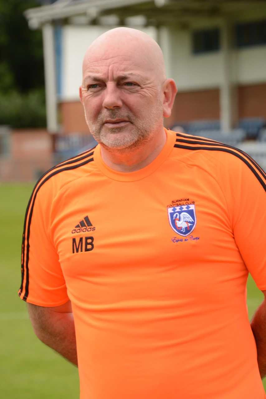 "Burnham boss Mark Betts: ""We're looking to finish a lot higher than last year, that's the aim, away from the relegation zone to try to get the club back on its feet."""