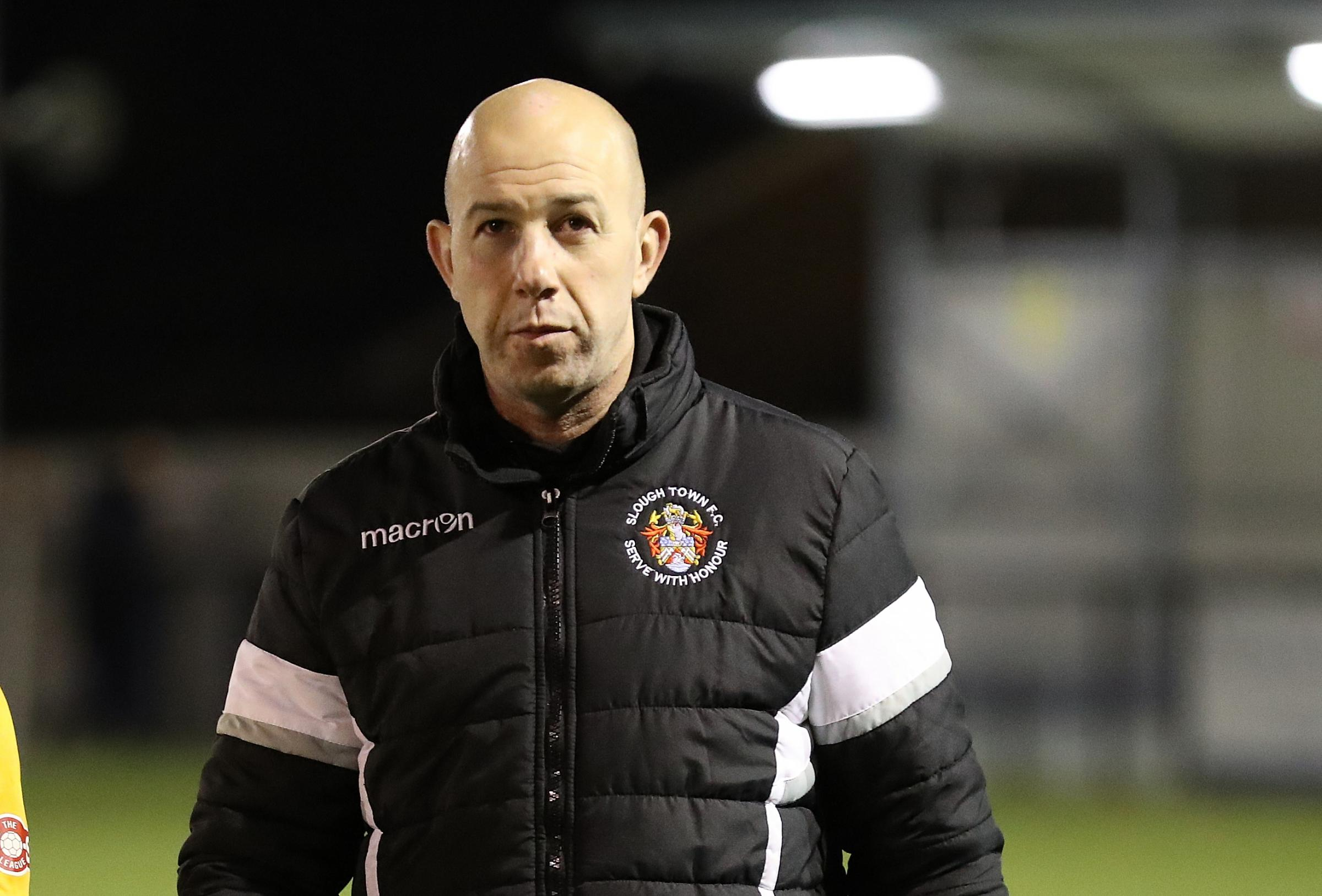 Slough Town joint boss, Jon Underwood.