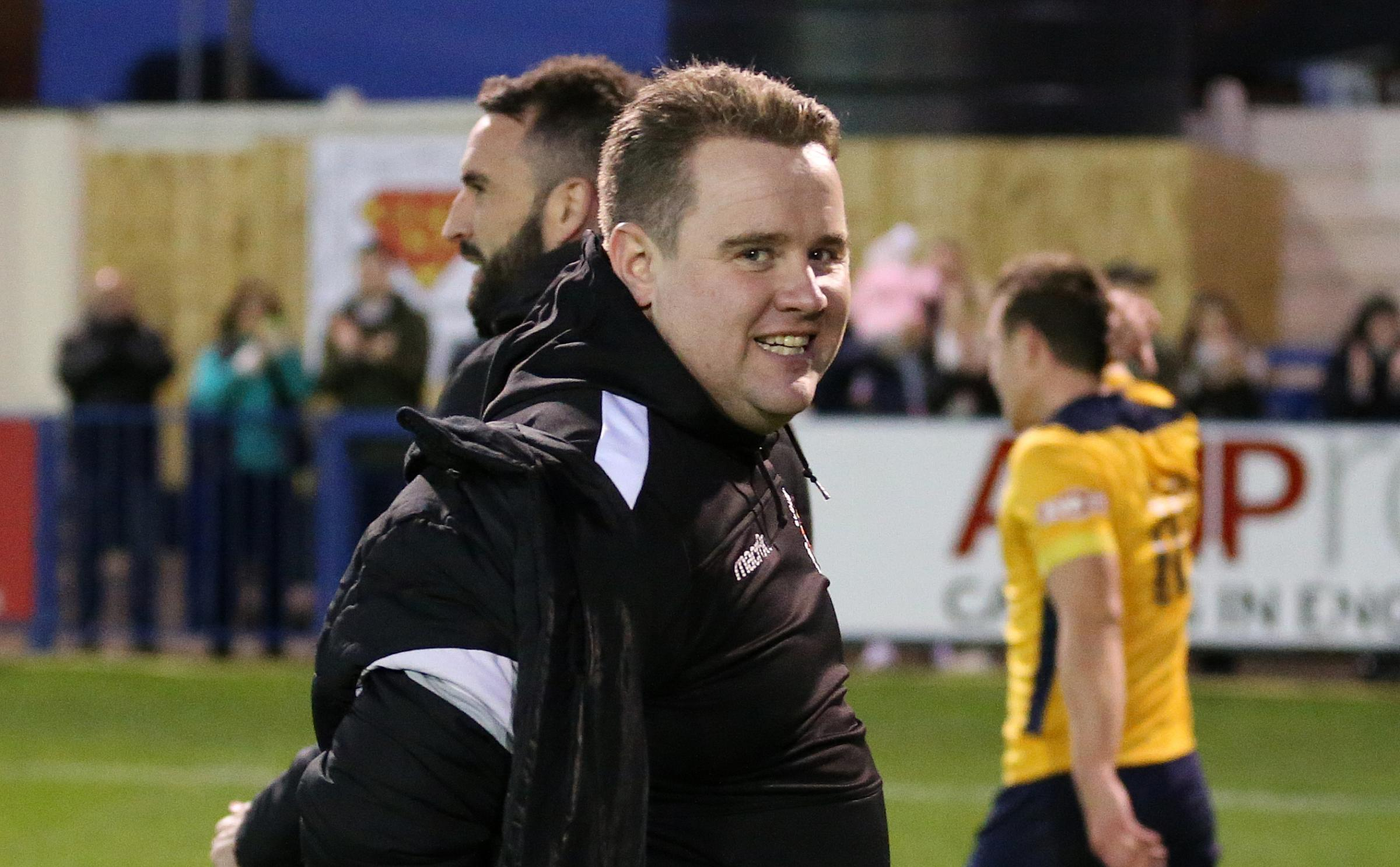 "Slough Town joint-boss Neil Baker: ""We've been promoted and that was a fantastic day but this was beyond the realms of possibility."""