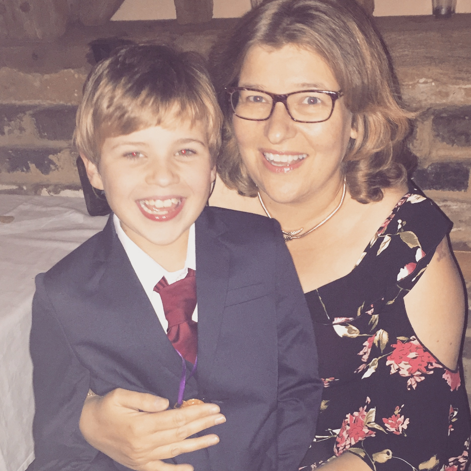 Charlotte Parmley-Gibbs and her son Jack Parmley