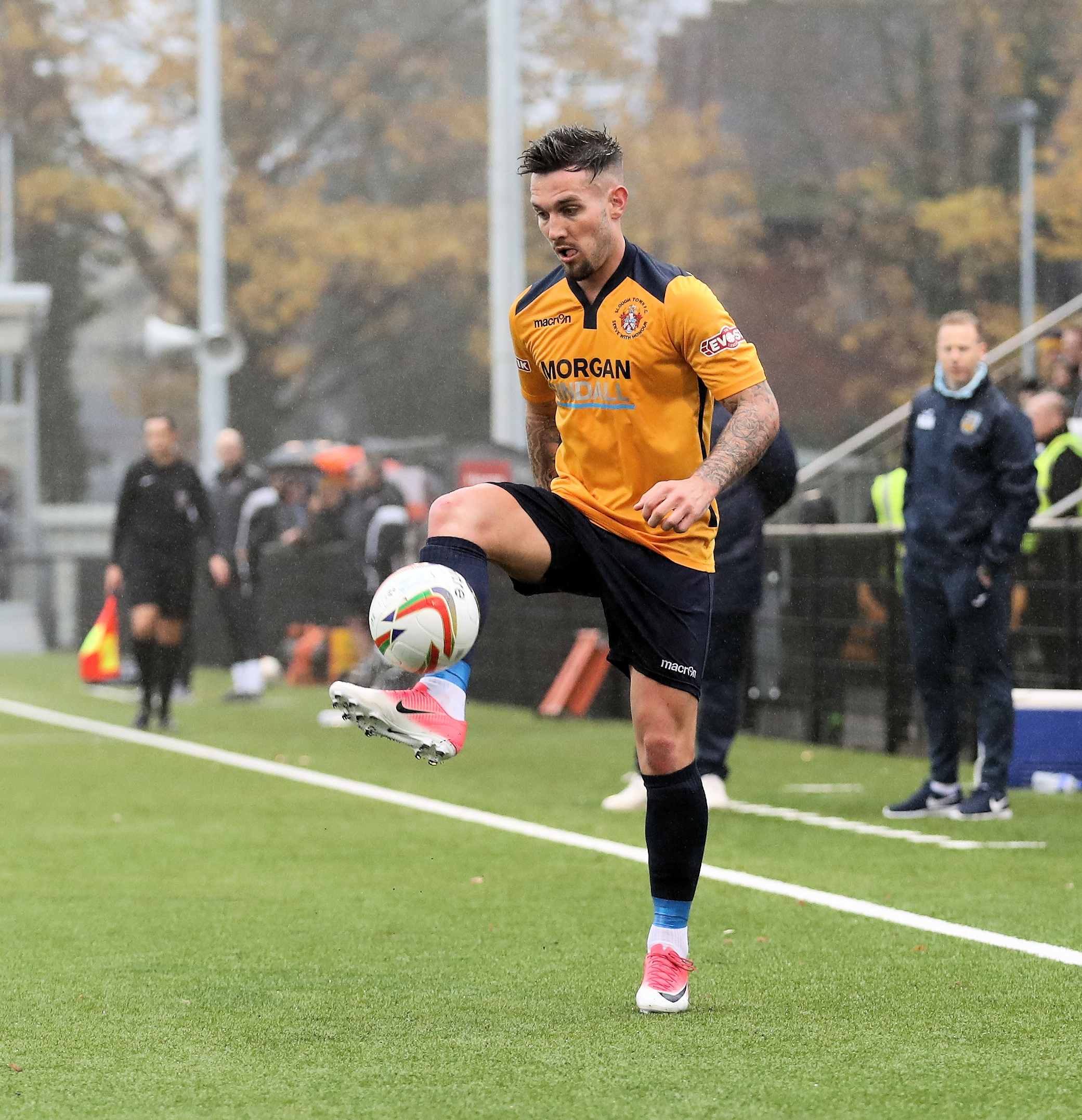 "Slough Town star James Dobson: ""The last three or four weeks have been carnage really with the FA Cup and Trophy as well. You can't really keep your eyes off it but the main objective for this cub is to get promoted."