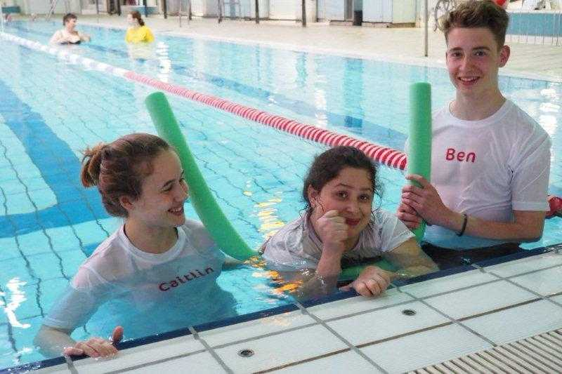 SportAble can offer several qualified disability swim coaches and one-on-one volunteer assistance in the water.