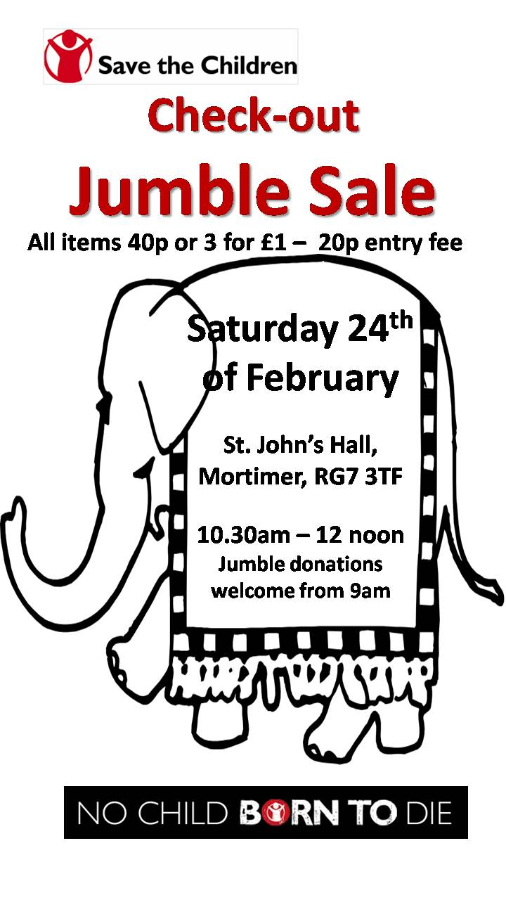 Check out Jumble Sale in aid of Save the Children