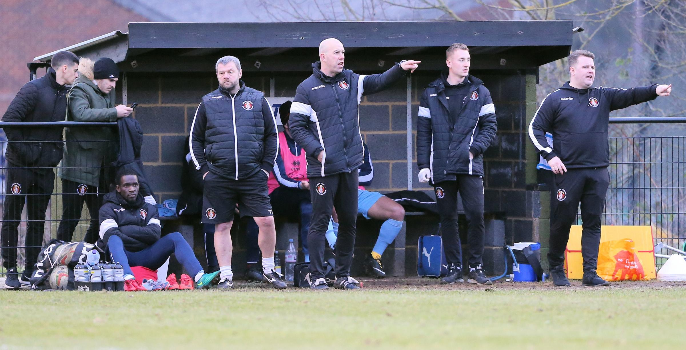 "Slough Town joint-manager Jon Underwood (centre): ""What really impressed me was how we went into the game, with an attacking formation and side. We backed ourselves to go toe-to-toe with Kings Langley."