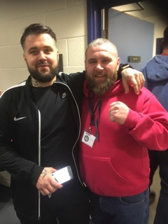 Stanlee Wilson (right) is honoured to have helped Mitch Austin (left) raise around £1,600 for a hospital in Kettering with a charity boxing match on Saturday.