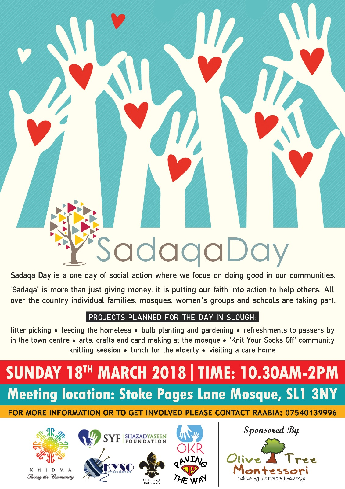 Sadaqa Day in Slough is cancelled due to the weather