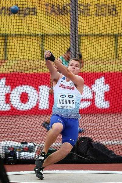 Jake Norris holds the British Junior and Under-20 records for hammer throw as part of a successful season.