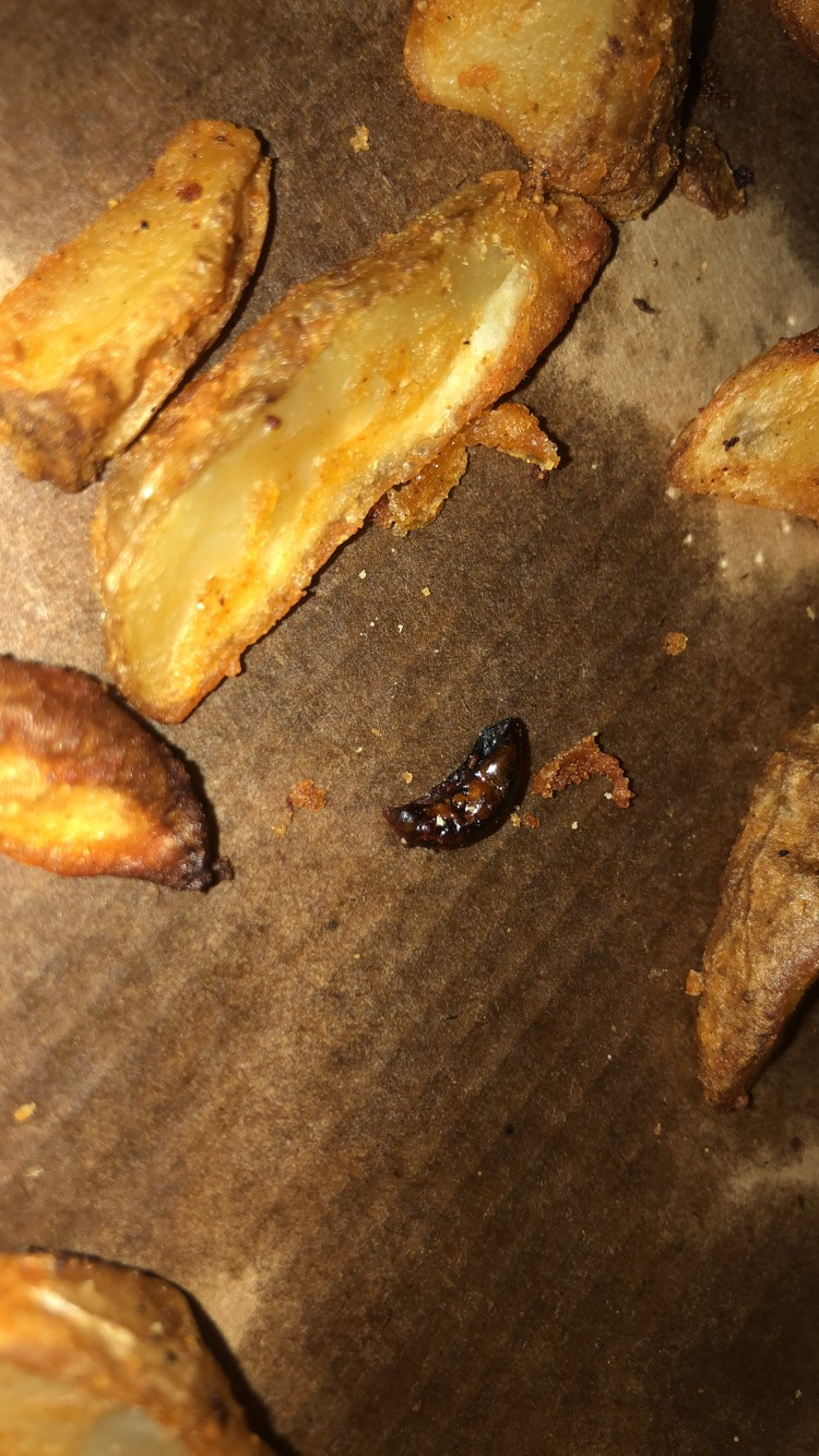 Unwanted guest in the potato wedges