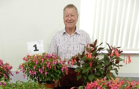 Bob Clarke, enthusiastic winner at the last show