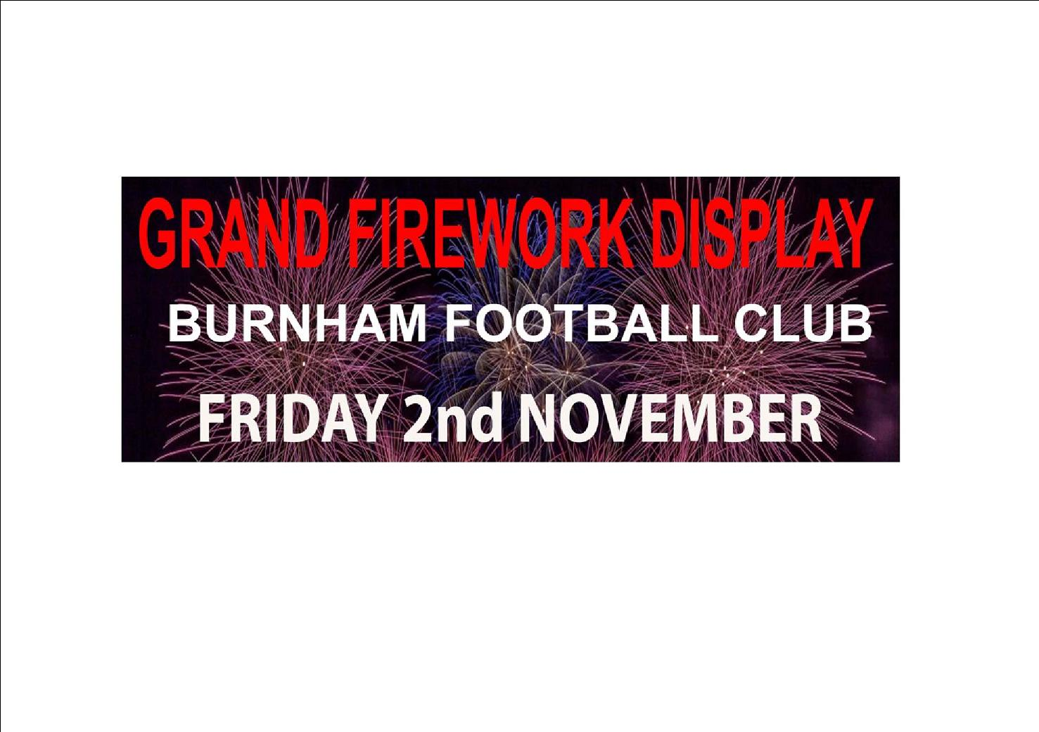 Grand Firework Display at Burnham FC