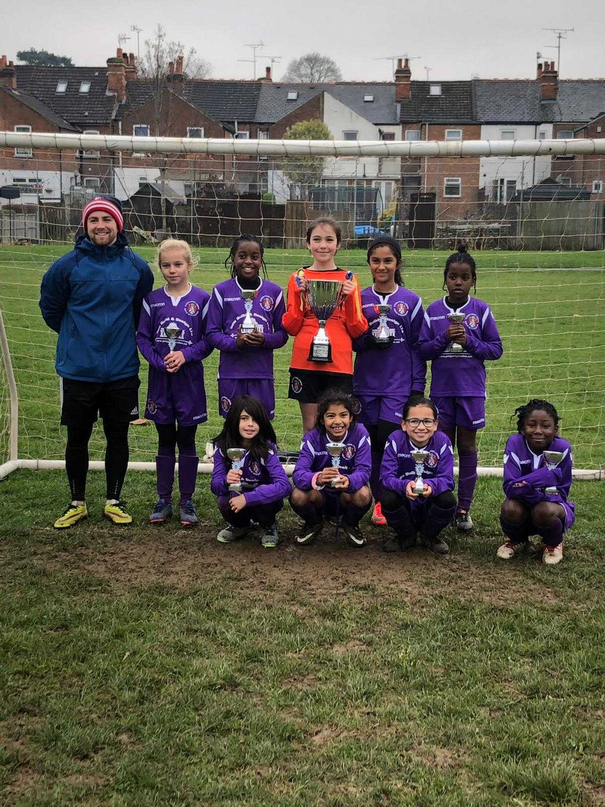 The Slough Town Under-10 girls team.