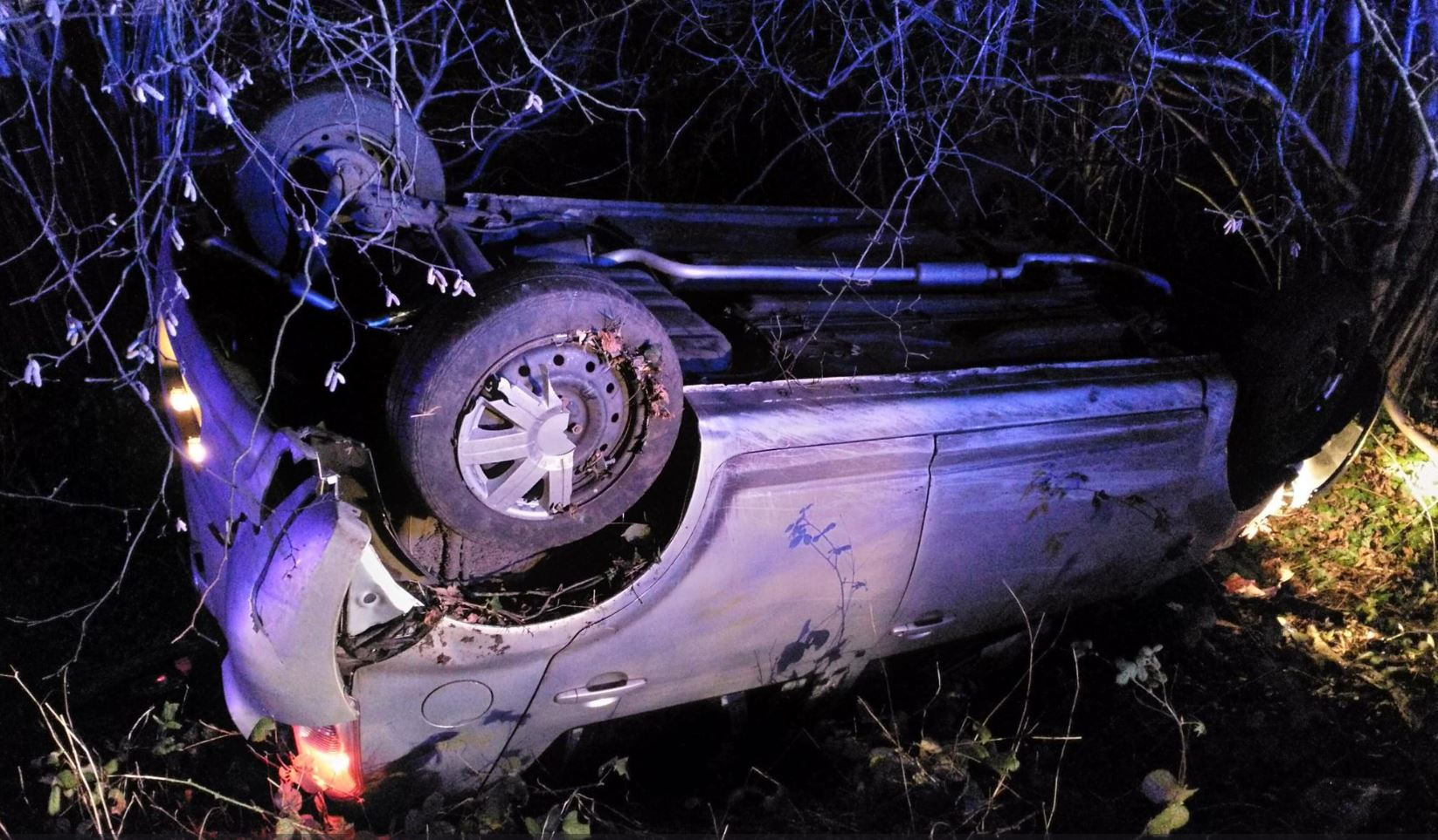 The driver was lucky to escape with no injuries