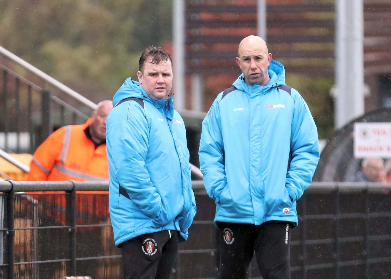 Neil Baker (left) and Jon Underwood (right) will take Slough Town to Hampton & Richmond Borough in the National League South on Saturday.