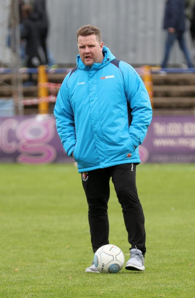 "Slough Town joint-manager Neil Baker: ""The play-offs have gone. We're not good enough for that, it's plain to see."""