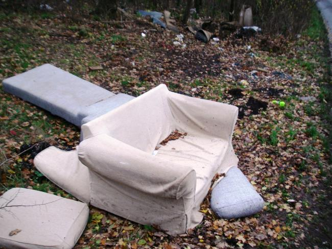 The sofa dumped by Singh
