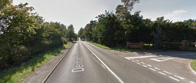 The incident happened at a property in Denham Road, Iver. Picture by Google
