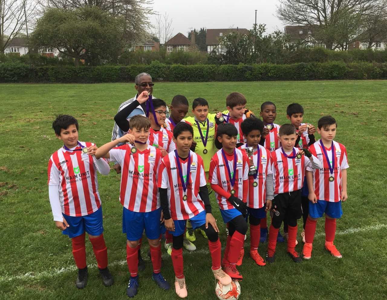 Langley FC Under-11s beat S4K Wolves 3-1 in the Thames Valley Football Development League Vase final at Kedermister Park.