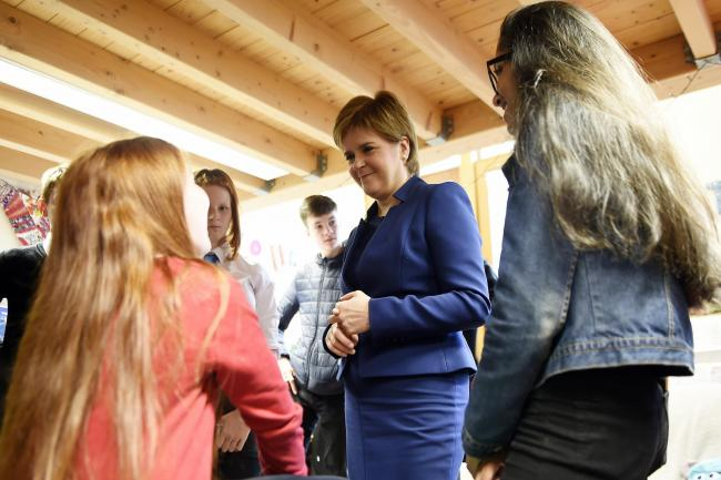 First Minister Nicola Sturgeon meets young carers